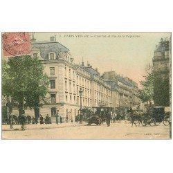carte postale ancienne PARIS 08. Caserne Rue de la Pépinière 1906