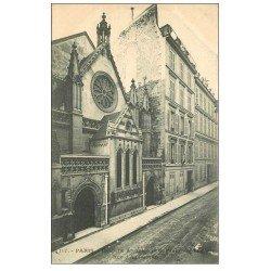 carte postale ancienne PARIS 08. Chapelle et Consulat Angleterre Rue Aguesseau