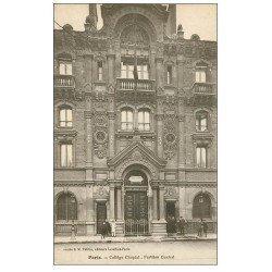 carte postale ancienne PARIS 08. Collège Chaptal Pavillon Central