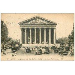 carte postale ancienne PARIS 08. Eglise Madeleine Rue Royale 1919