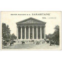 carte postale ancienne PARIS 08. Eglise Madeleine. Publicité La Samaritaine