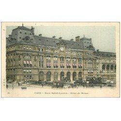 carte postale ancienne PARIS 08. Gare Saint-Lazare Cours de Rome 1906