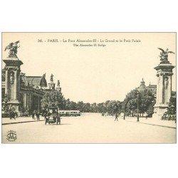 carte postale ancienne PARIS 08. Grand et Petit Palais Pont Alexandre III