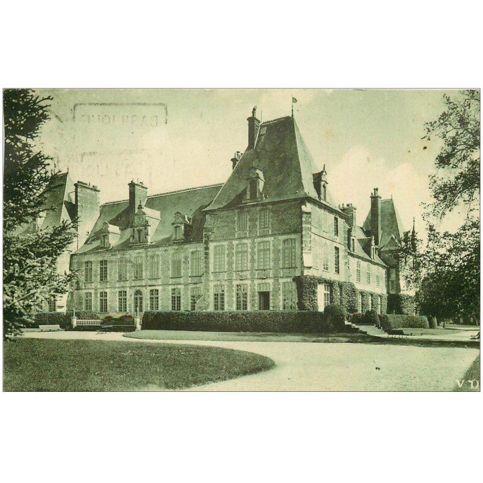 02 chateau de marchais vue du parc 1935 for Marchais 02