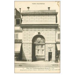 PARIS 08. Hôtel Saint-Priest rue du Faubourg-Saint-Honoré. Gouverneur des Pages