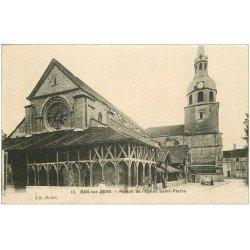 carte postale ancienne 10 BAR-SUR-AUBE. Portail Eglise Saint-Pierre. Matelassière