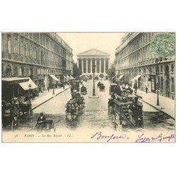 PARIS 08. La Madeleine Rue Royale Hippomobile à Impériale 1907
