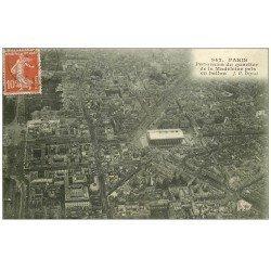 carte postale ancienne PARIS 08. La Madeleine vue prise en Ballon 1909