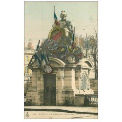PARIS 08. La Statue de Strasbourg colorisée 1904