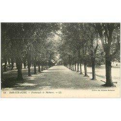 carte postale ancienne 10 BAR-SUR-AUBE. Promenade de Mathaux