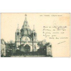 carte postale ancienne PARIS 08. L'Eglise Russe