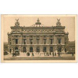 carte postale ancienne PARIS 08. L'Opéra et Bouche du Métropolitain