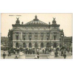 carte postale ancienne PARIS 08. L'Opéra et la bouche du Métropolitain