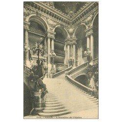 carte postale ancienne PARIS 08. L'Opéra et l'Escalier 1913