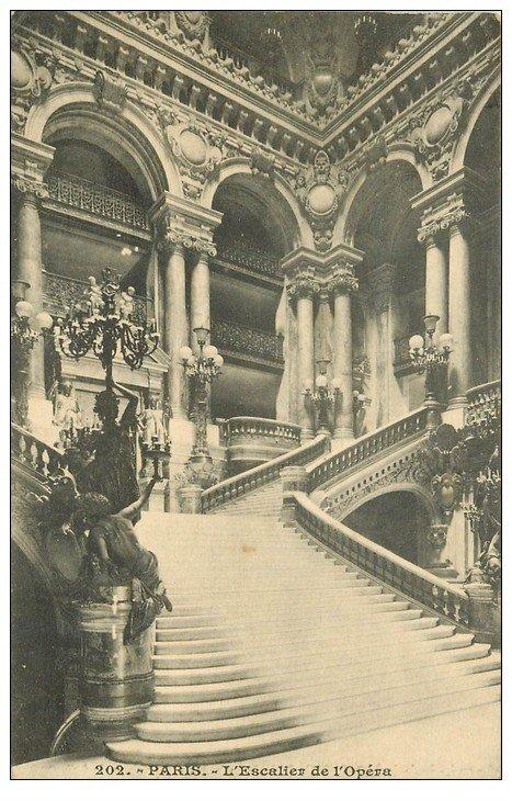 PARIS 08. L'Opéra et l'Escalier 1913