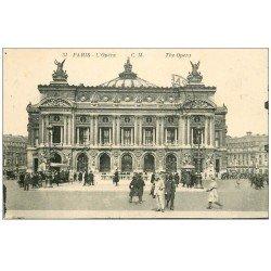 carte postale ancienne PARIS 08. L'Opéra et Métropolitain 1928
