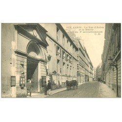 carte postale ancienne PARIS 08. Mairie rue d'Anjou