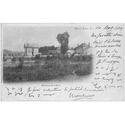 carte postale ancienne 10 BAR-SUR-SEINE. Faubourg de la Gare 1902