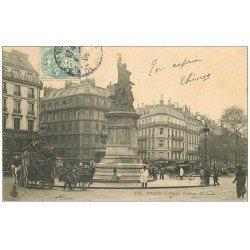 carte postale ancienne PARIS 09. Belle Jardinière Place Clichy 1906 Hippomobile