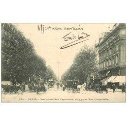 carte postale ancienne PARIS 09. Boulevard des Capucines 1903