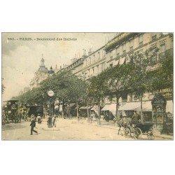 carte postale ancienne PARIS 09. Boulevard des Italiens