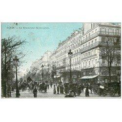 carte postale ancienne PARIS 09. Boulevard Montmartre Casino de Paris 1910