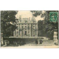 carte postale ancienne 10 BAR-SUR-SEINE. Gardien du Château Trumet de Fontarce 1916