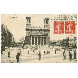 carte postale ancienne PARIS 09. Eglise Saint-Vincent-de-Paul 1921