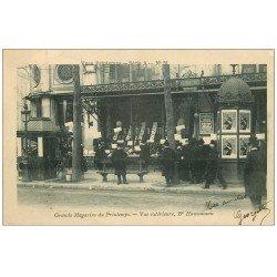carte postale ancienne PARIS 09. Grands Magasins du Printemps Boulevard Haussmann 1904