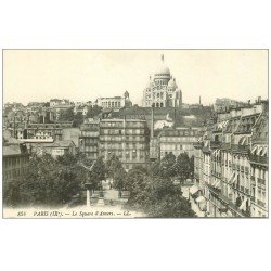 carte postale ancienne PARIS 09. Le Square d'Anvers