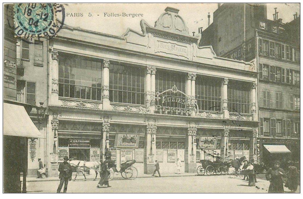 PARIS 09. Les Folies-Bergère 1904 Salle de spectacles