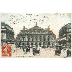carte postale ancienne PARIS 09. L'Opéra 1911 Bon Marché