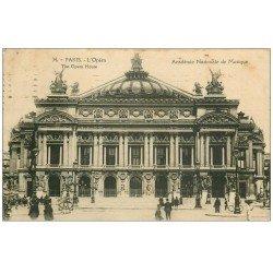 carte postale ancienne PARIS 09. L'Opéra 1923