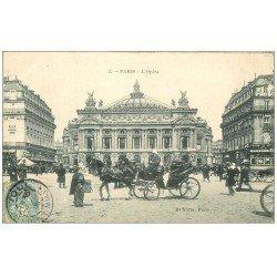 PARIS 09. L'Opéra et Attelage 1906