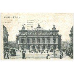 carte postale ancienne PARIS 09. L'Opéra et Autobus Ford 1916