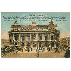 carte postale ancienne PARIS 09. L'Opéra et Autobus Ford avec Métropolitain