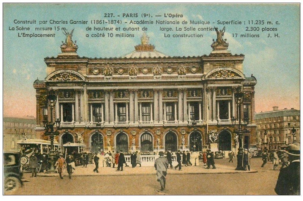PARIS 09. L'Opéra et Autobus Ford avec Métropolitain