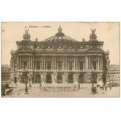 carte postale ancienne PARIS 09. L'Opéra et entrée du Métro n°2