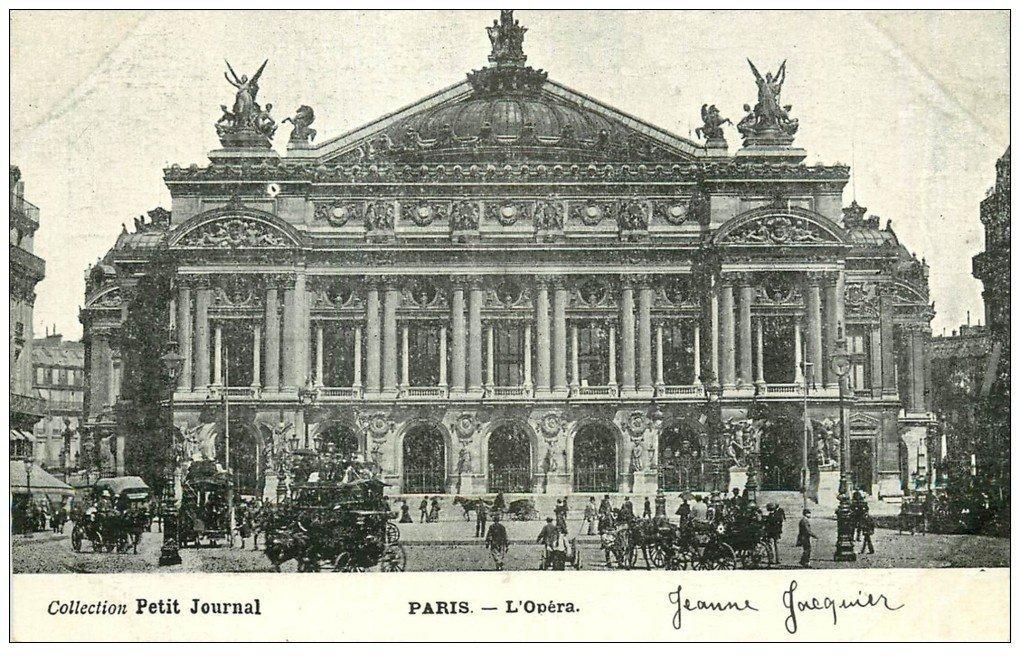 PARIS 09. L'Opéra et Hippomobiles. Petit Journal