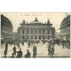 carte postale ancienne PARIS 09. L'Opéra et Métro 1923