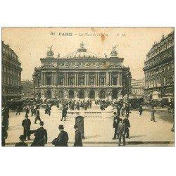 carte postale ancienne PARIS 09. L'Opéra et Métropolitain 1935