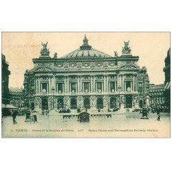 PARIS 09. L'Opéra et Station Métro 1924