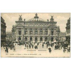 PARIS 09. L'Opéra et station Métropolitain 1919