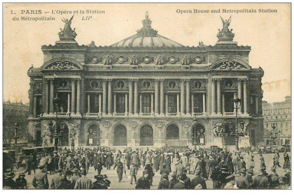 PARIS 09. L'Opéra et station Métropolitain