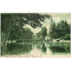 carte postale ancienne 10 BAR-SUR-SEINE. Le Pont Vert 1930
