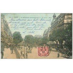 carte postale ancienne PARIS 10. Boulevard Bonne Nouvelle 1907