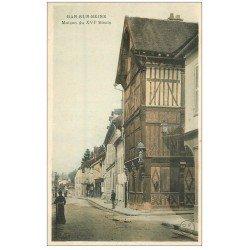 carte postale ancienne 10 BAR-SUR-SEINE. Maison du XVI siècle