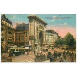 carte postale ancienne PARIS 10. Boulevard Porte Saint-Denis 1927