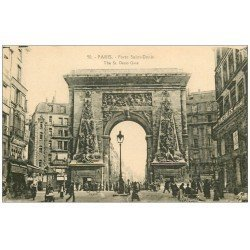 carte postale ancienne PARIS 10. Boulevard Porte Saint-Denis 50