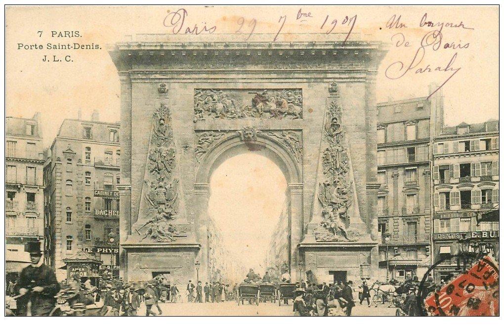 Paris 10 Boulevard Porte Saint Denis Cabinet De Dentiste A L Etage 1907